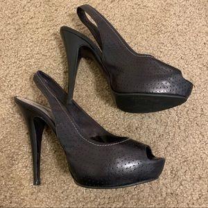 Black Slingback Heels